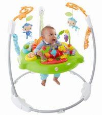ベビージム・・・赤ちゃんが入り、ボヨンボヨンジャンプできる歩行器のようなもの。