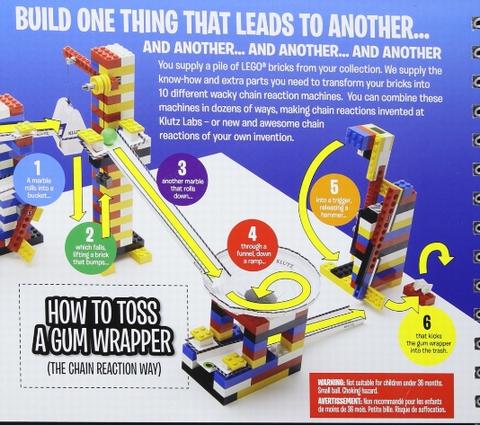 【Lego Chain Reactions (Klutz S)】レゴブロックを使ってピタゴラスイッチのような仕掛けを作れる