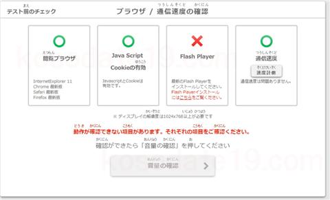 英語検定スピーキングテスト使用機器の確認使用できない