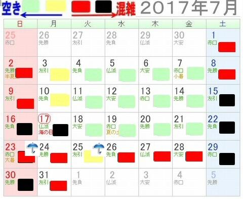 長島スパーランドプール混雑状況20173年7月