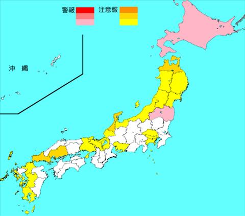 インフルエンザ流行レベルマップ2019年第48週(11月25日~12月1日)