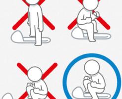 公衆トイレなどでの本当の和式便器練習の仕方。またぎかた・足を置く位置