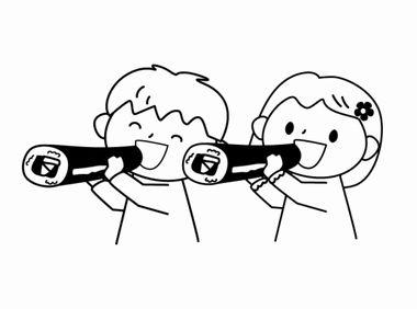 節分の日の白黒画像イラストmonoぽっと(ものぽっと)2