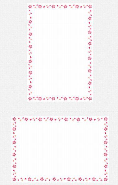 いらすとや【卒業祝い用メッセージカード】桜フレーム