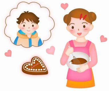 素材ライブラリ【バレンタインデーの無料イラスト画像】バレンタイン