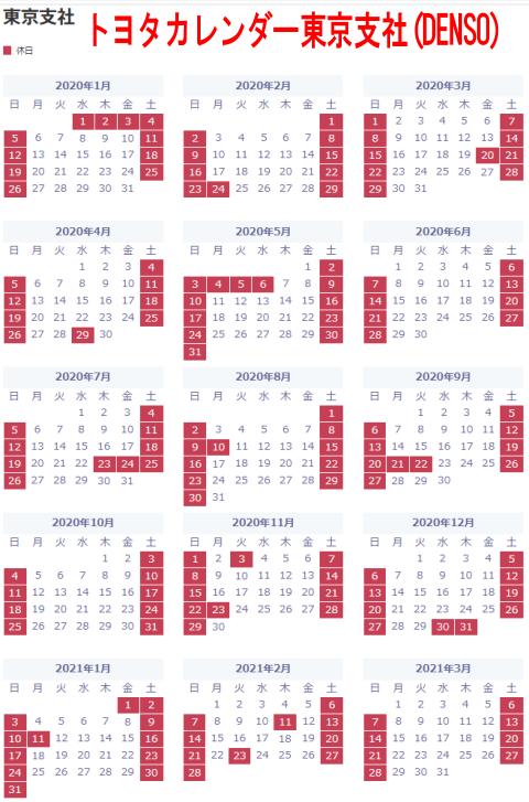 トヨタカレンダー東京支社(DENSO・デンソー)