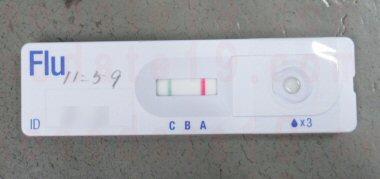 2020年の子供のインフルエンザA型検査結果