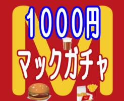 1000円マックガチャ(マクドナルドガチャ・マクドナルドくじ)