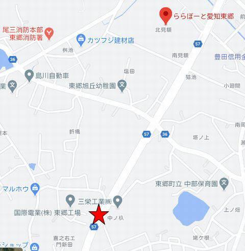 ららぽーと東郷混雑状況地図