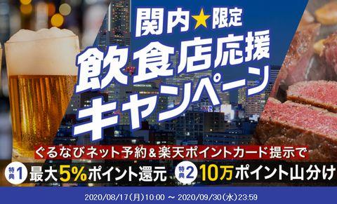 【神奈川・横浜市】関内エリア限定!ぐるなび×楽天ポイントキャンペーン